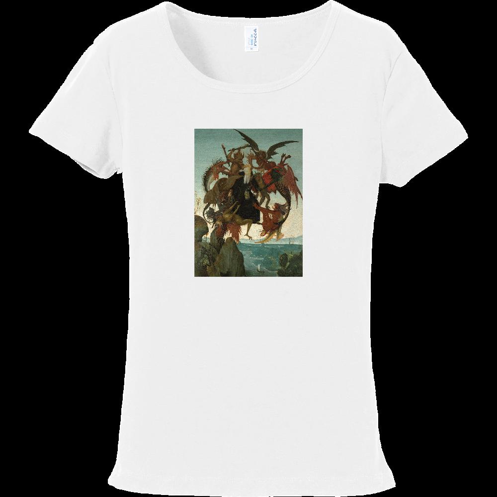 おもしろTシャツ 悪魔の誘惑 レディース フライスTシャツ