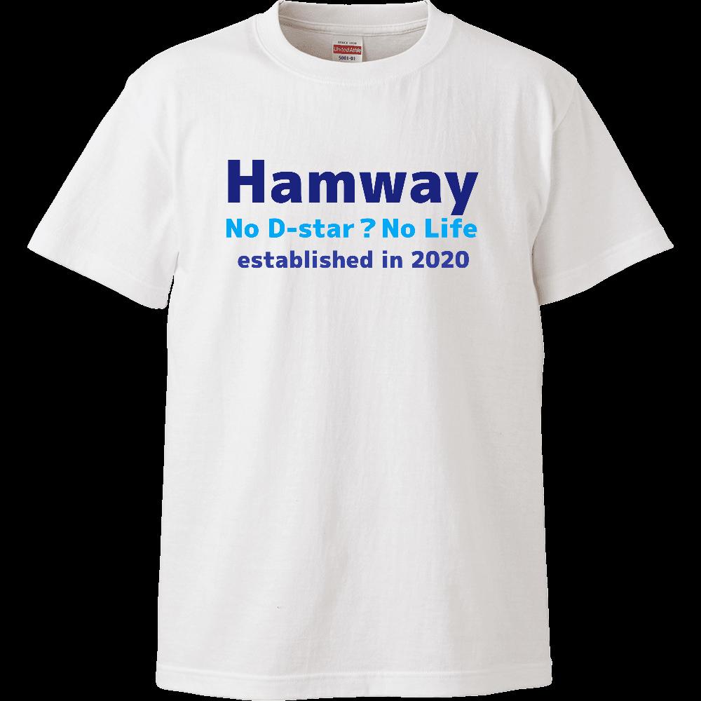 Hamway公式ハイクオリティT-shirt No D-star? No Life ハイクオリティーTシャツ