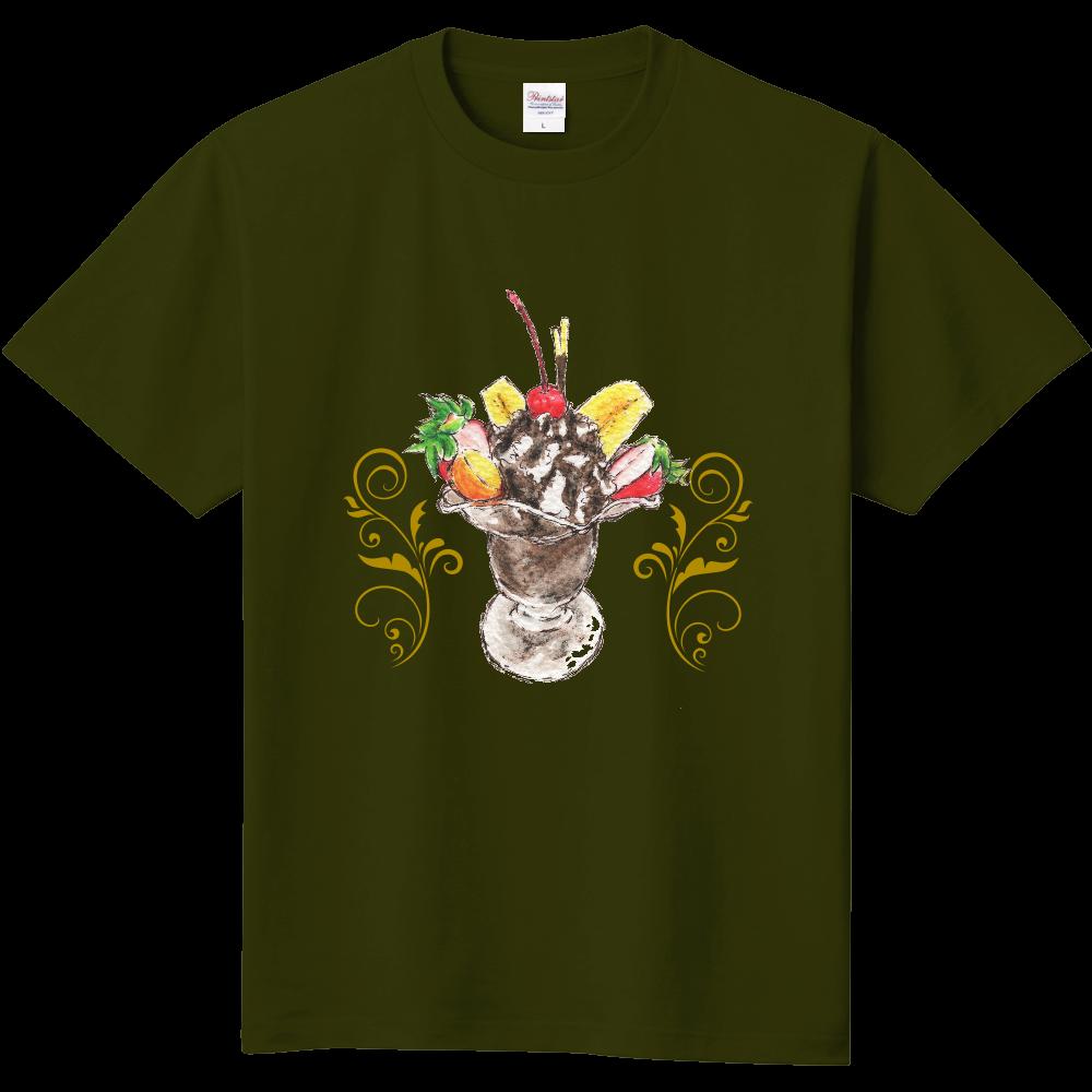 チョコレートパフェ(背景無し)半袖Tシャツ※カラー選択可 定番Tシャツ