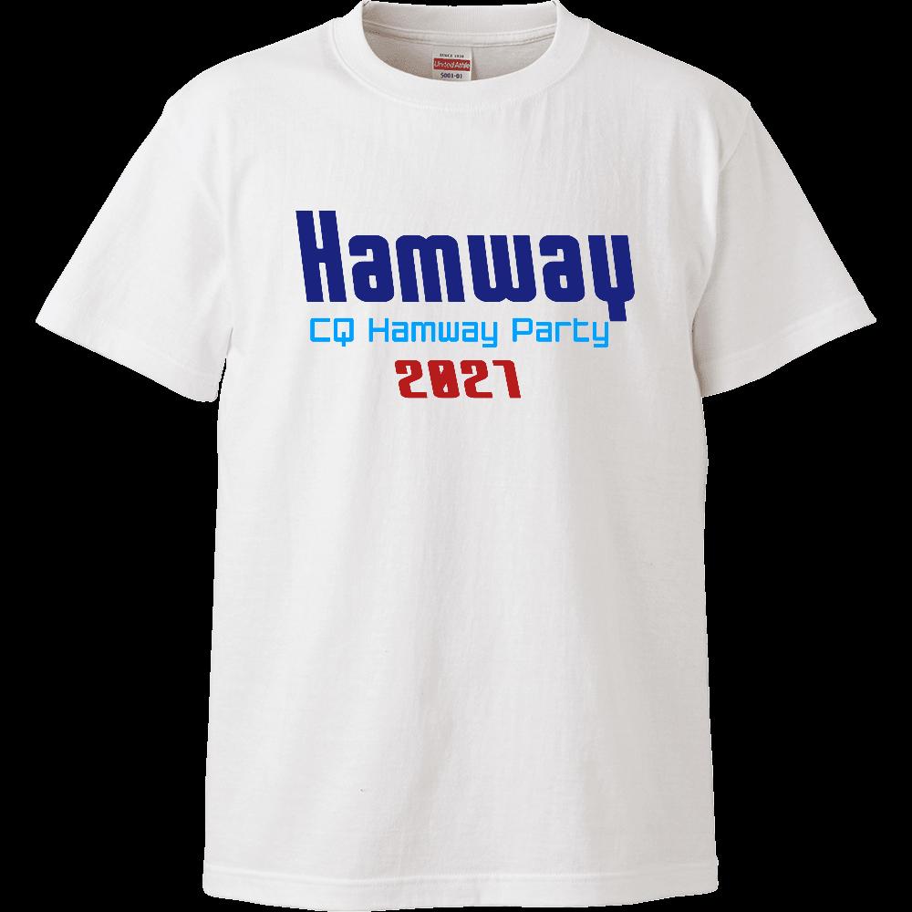 Hamway公式ハイクオリティTシャツ CQ Hamway Party 2021 ハイクオリティーTシャツ