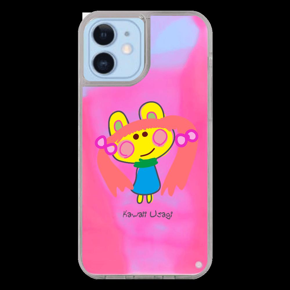 かわいいうさぎ Kawaii Usagi iPhone12/12pro ネオンサンドケース
