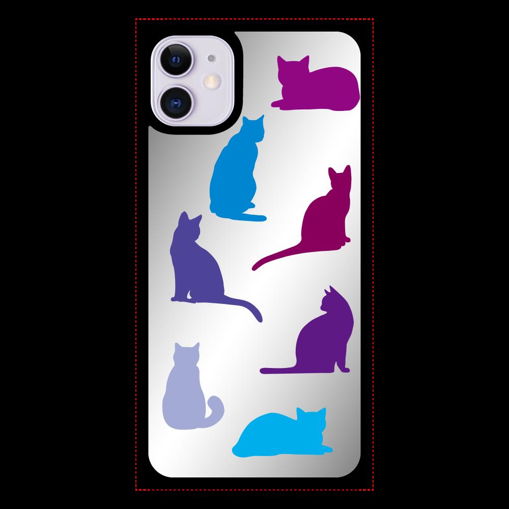 猫たちのiPhone11 ミラーパネルケース iPhone11 ミラーパネルケース