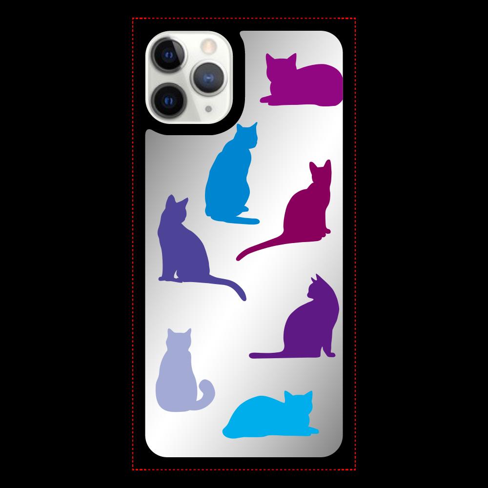 猫たちのiPhone11pro ミラーパネルケース iPhone11pro ミラーパネルケース