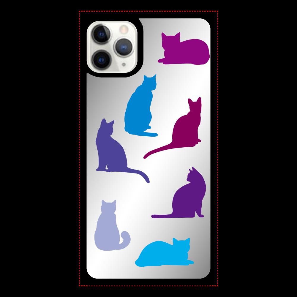 猫たちのiPhone11proMax ミラーパネルケース ミラー iPhone11proMax ミラーパネルケース