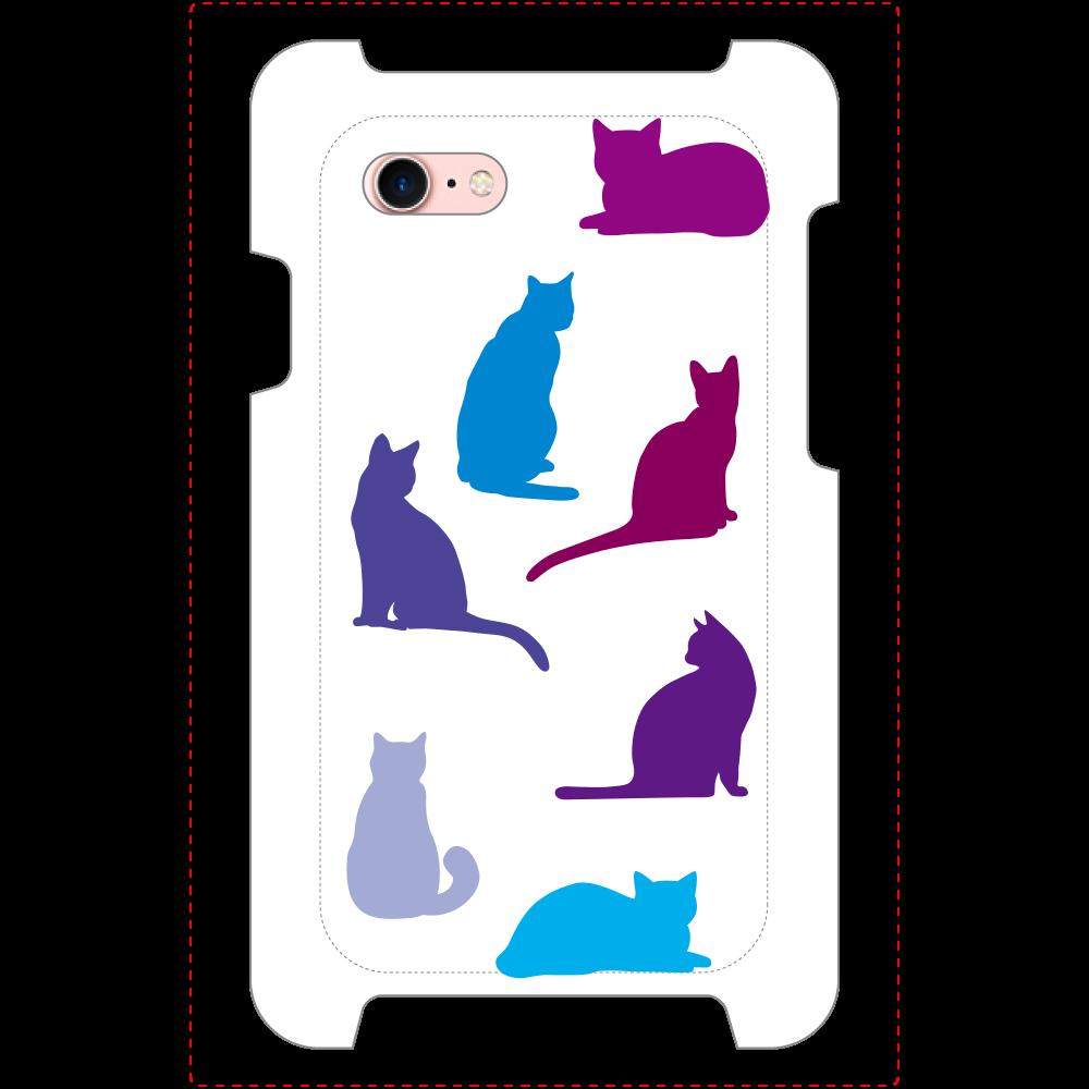 猫たちのiPhoneSE2_ミラーケース ホワイト  iPhoneSE2_ミラーケース