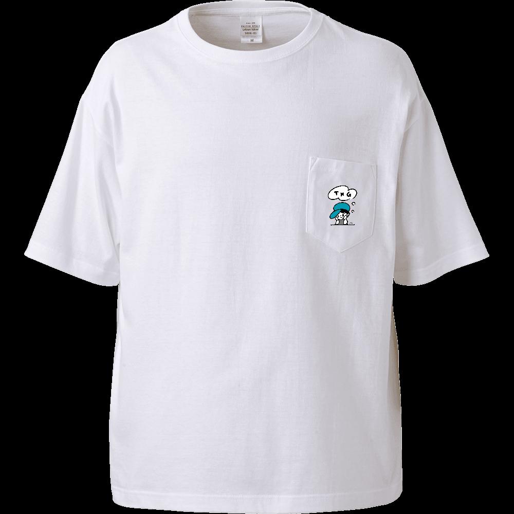 TKGポケットTその1 ビッグシルエットTシャツ(ポケット付)