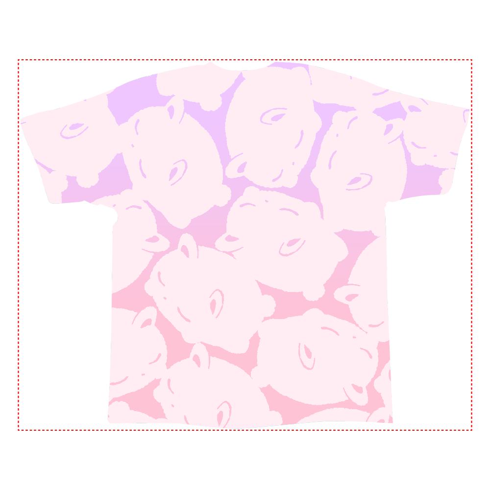 うさぎのようなしっぽのくまのフルグラT 全面インクジェットTシャツ(XL)