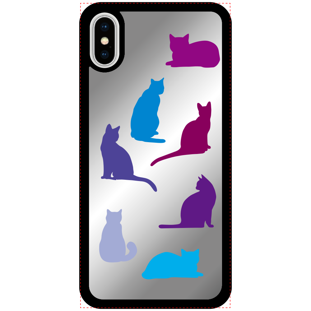猫たちのiPhoneX/Xsミラーパネルケース iPhoneX/Xsミラーパネルケース