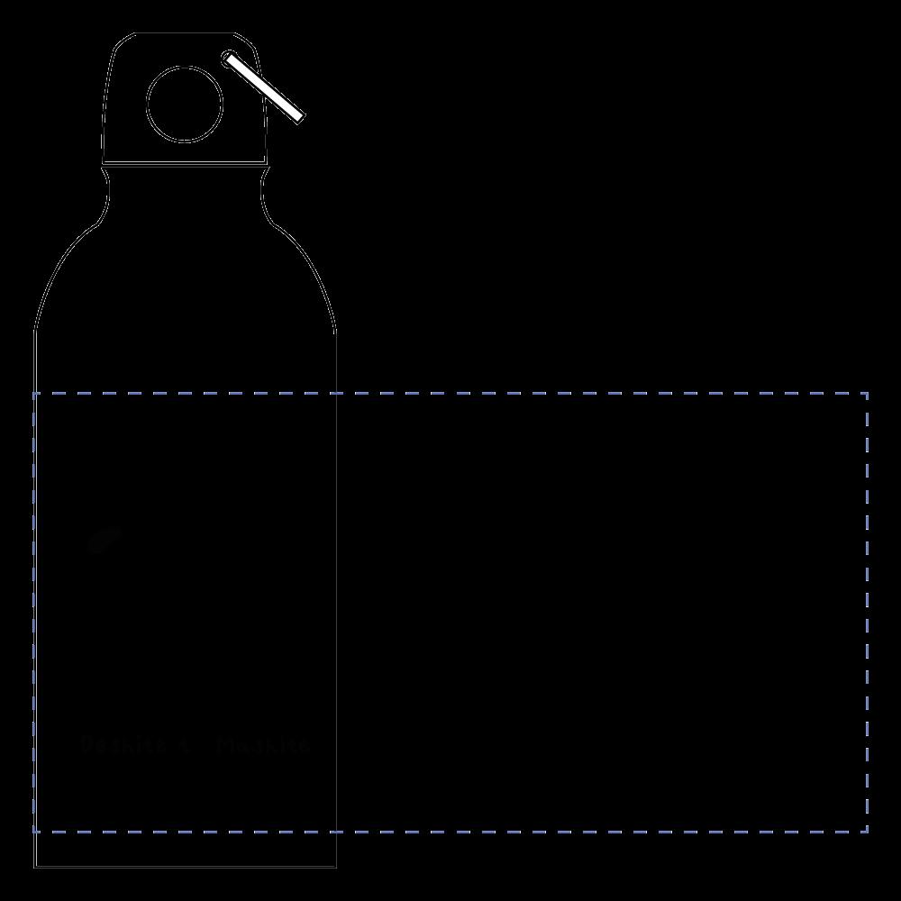 デシテとマシテver.1アルミボトル (シルエット) アルミマウンテンボトル(400ml)