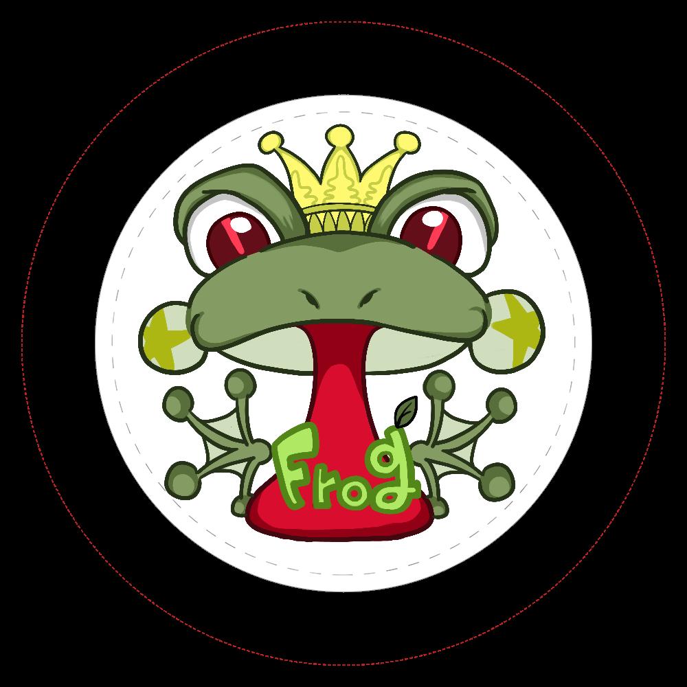 カエル  44㎜缶バッジ