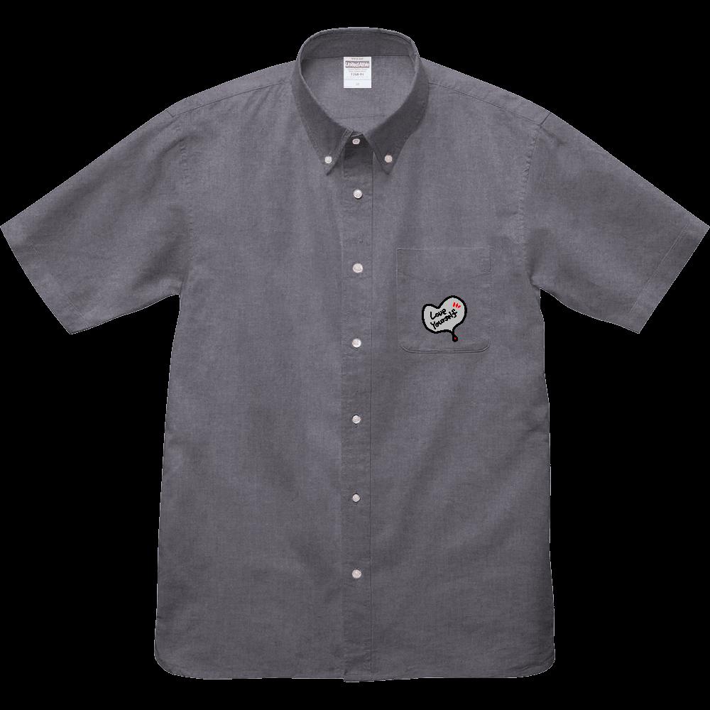 ご自愛ください、サンプルシャツ オックスフォードボタンダウンショートスリーブシャツ