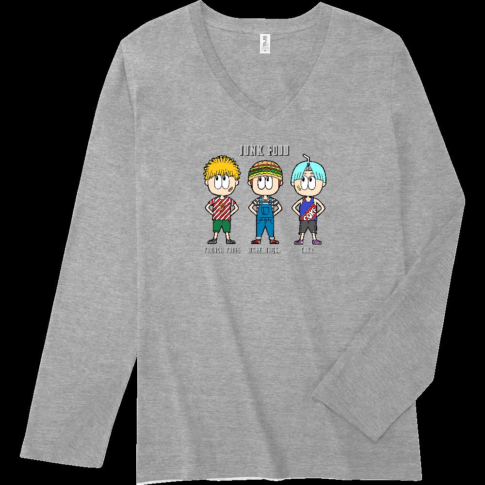 ジャンクフード/ファッション スリムフィット VネックロングスリーブTシャツ