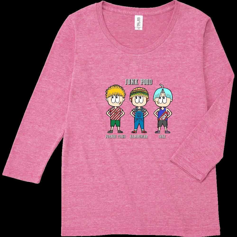 ジャンクフード/ファッション トライブレンド7分袖レディースTシャツ