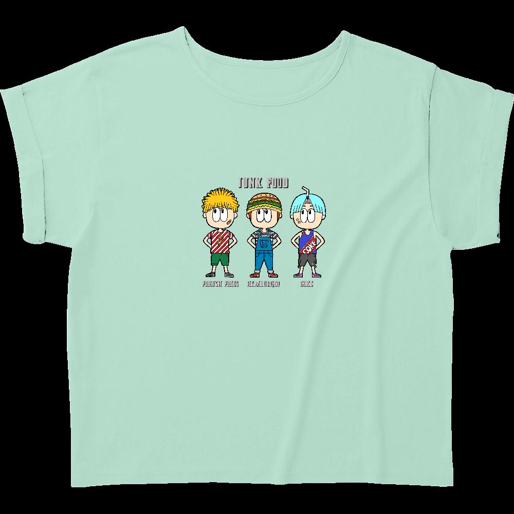ジャンクフード/ファッション ウィメンズ ロールアップ Tシャツ