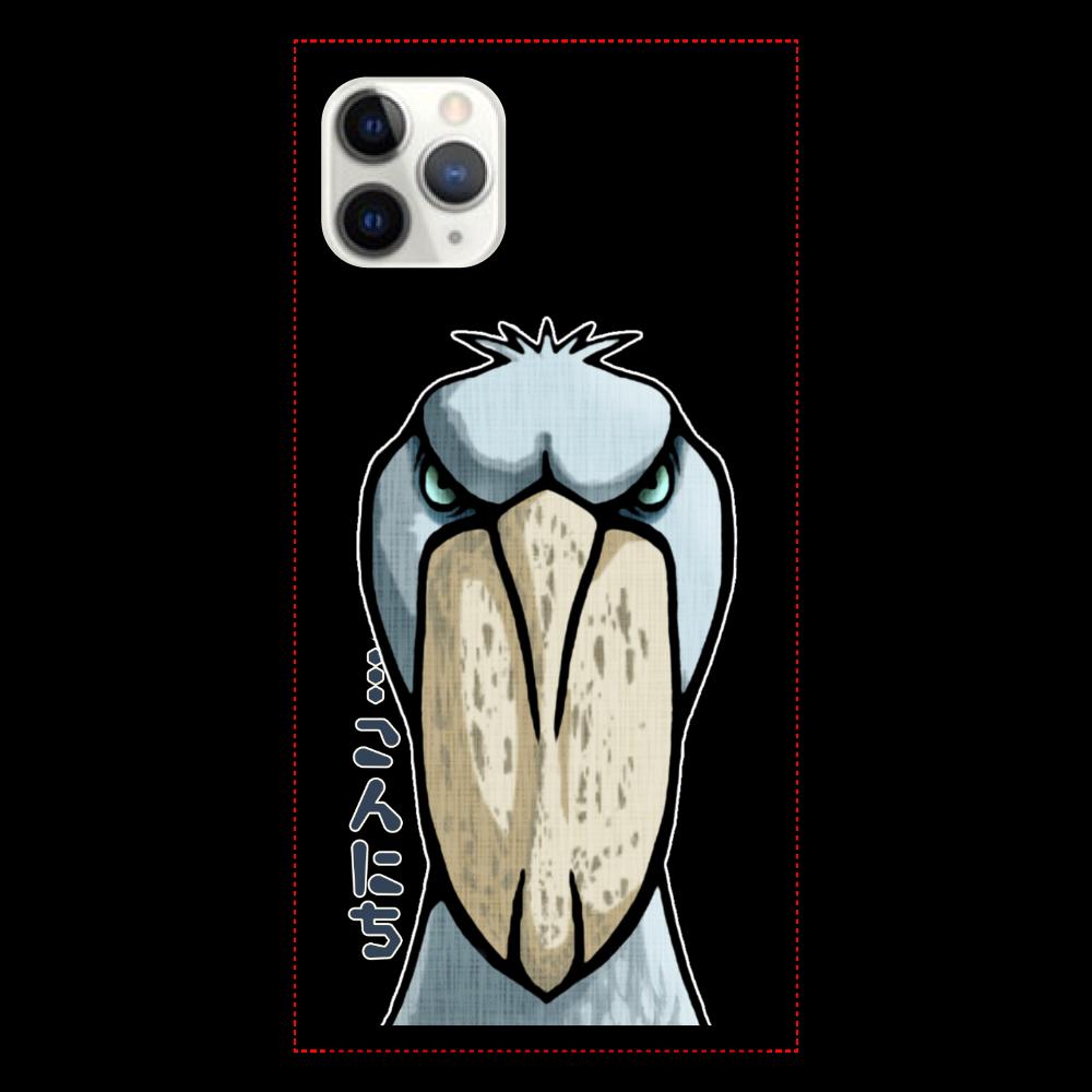ゆっくりハシビロコウさんスマホケース iPhone11proMax クリアパネルラバーケース