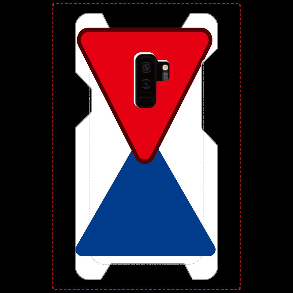 赤と青の表面のみ印刷Galaxy S9+(SC-03K) Galaxy S9+(SC-03K)
