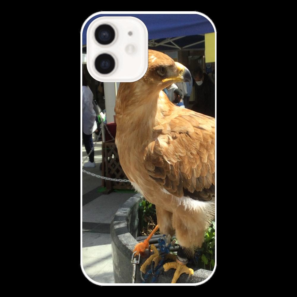 ボディーガード鷲の表面のみ印刷iPhone12 ケース   iPhone12