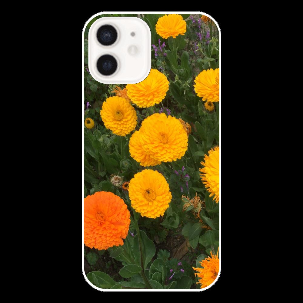 ビタミンフラワーの表面のみ印刷iPhone12 ケース(透明) iPhone12(透明)