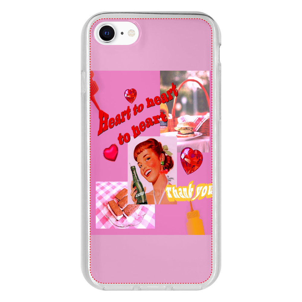 Heart to heart to heart iPhone SE2 抗菌ソフトケース クリア  iPhone SE2 抗菌ソフトケース