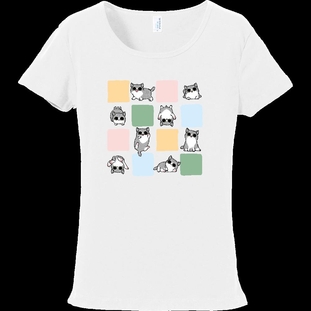 ごろごろ猫 フライスTシャツ
