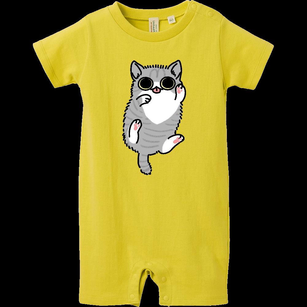 ごろごろ猫 ベイビーロンパース