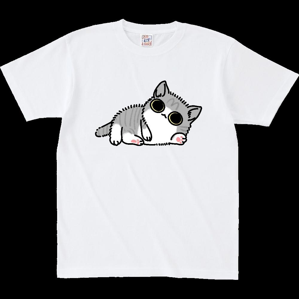 べったり子猫(大) オープンエンド マックスウェイト Tシャツ(キッズ)