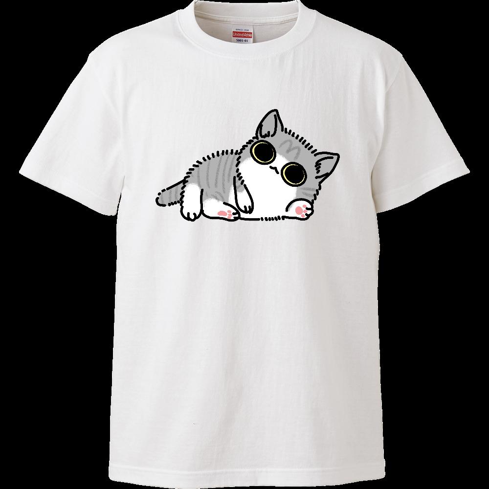 べったり子猫(大) ハイクオリティーキッズTシャツ