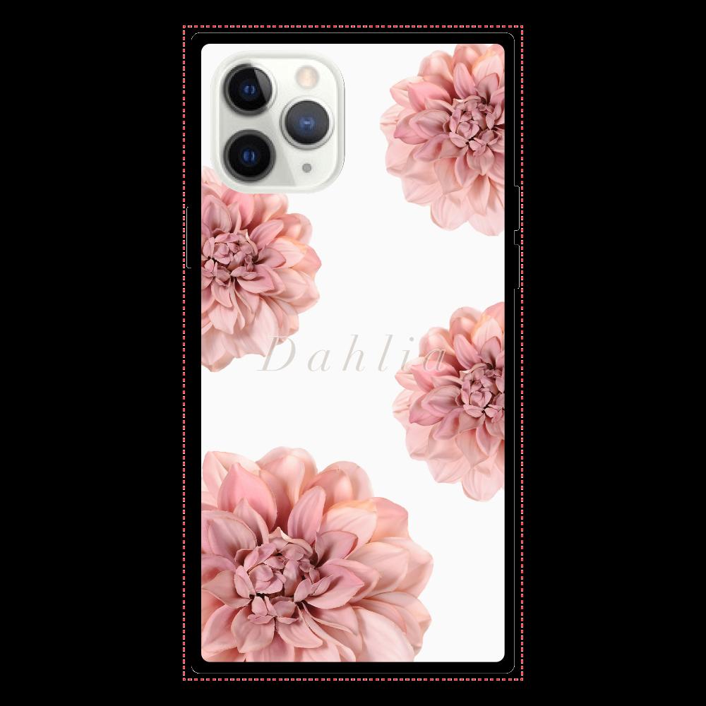 iPhoneケース Dahlia iPhone11 Pro スクエア型強化ガラスケース