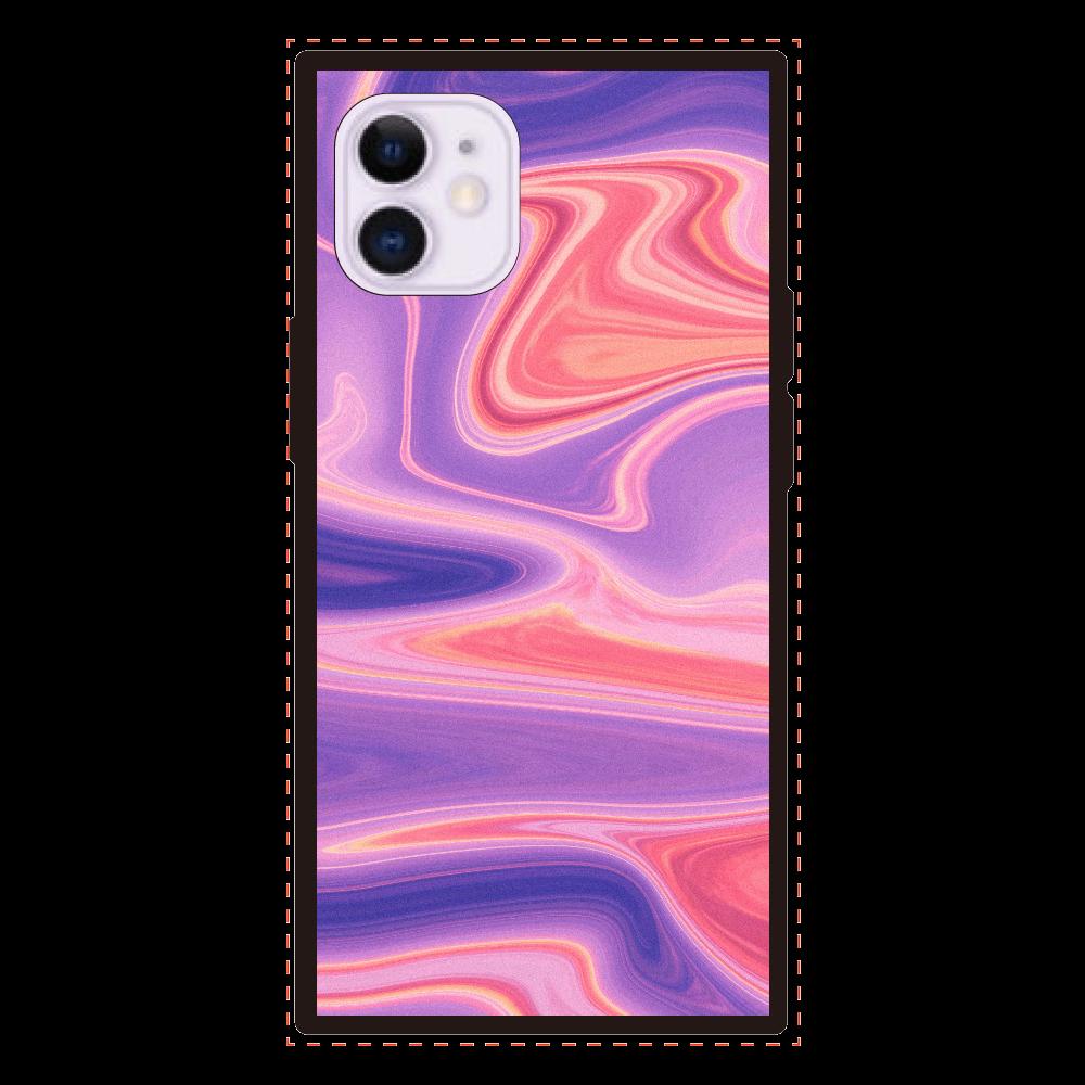 欲しくなる様なスマホケース iPhone12mini 背面強化ガラス(スクエア)