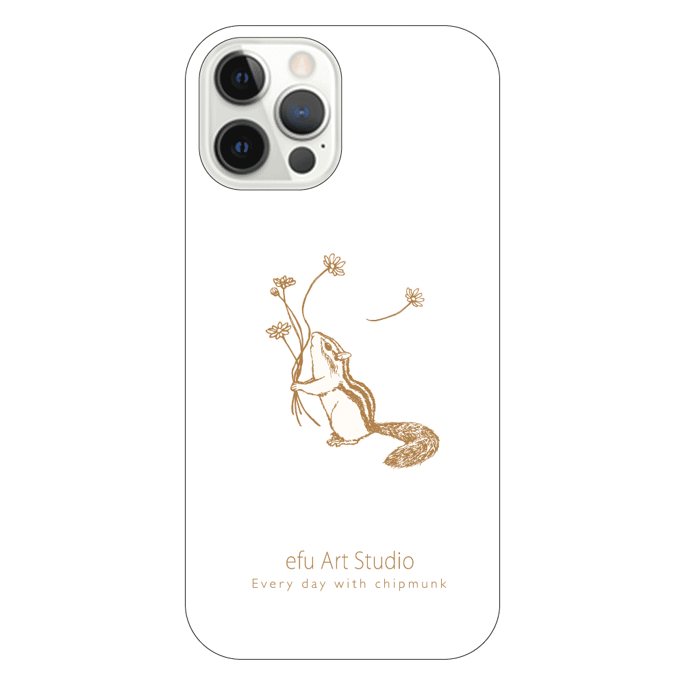 シマリスiPhoneケース(白) iPhone12 Pro