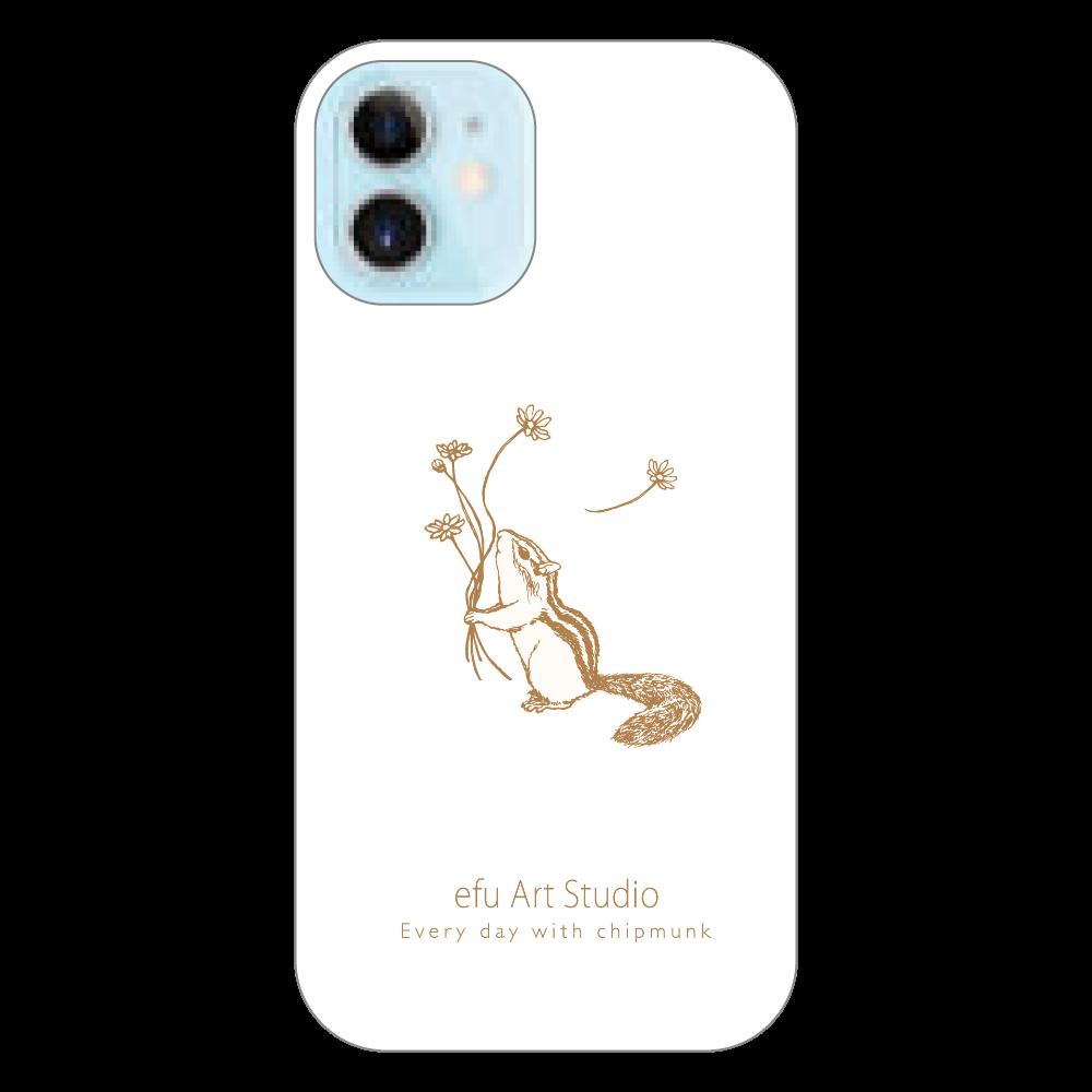 シマリスiPhoneケース(白) iPhone12 mini