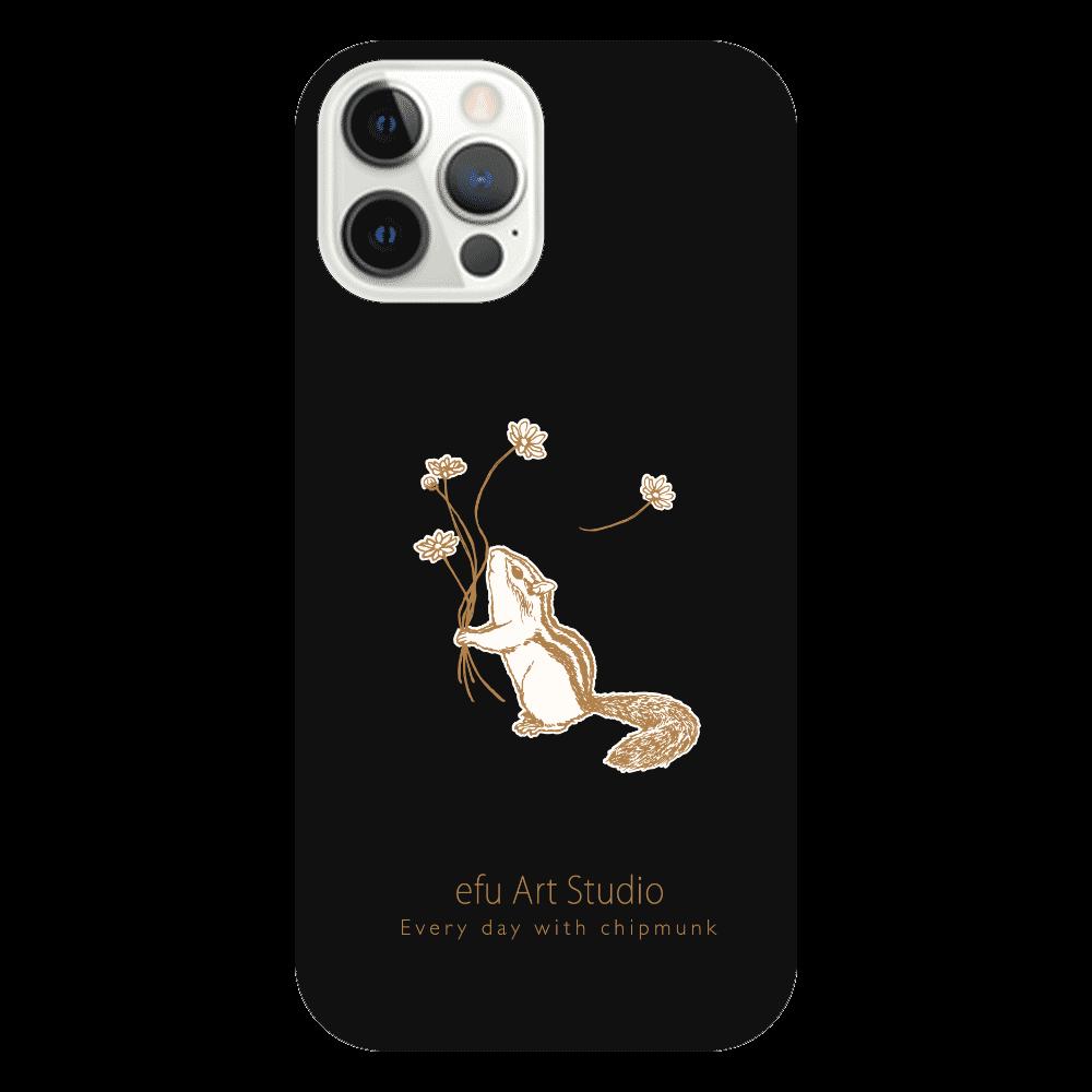 シマリスiPhoneケース(黒) iPhone12 Pro