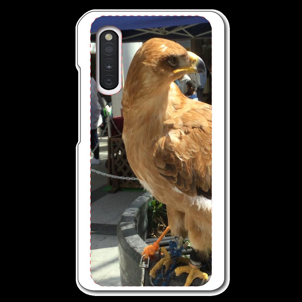 ボディーガード鷲の表面のみ印刷Androidケース Galaxy A41 SC-41A/SCV48/UQ mobile用ハードホワイトケース Galaxy A41 SC-41A/SCV48/UQ mobile用ハードホワイトケース