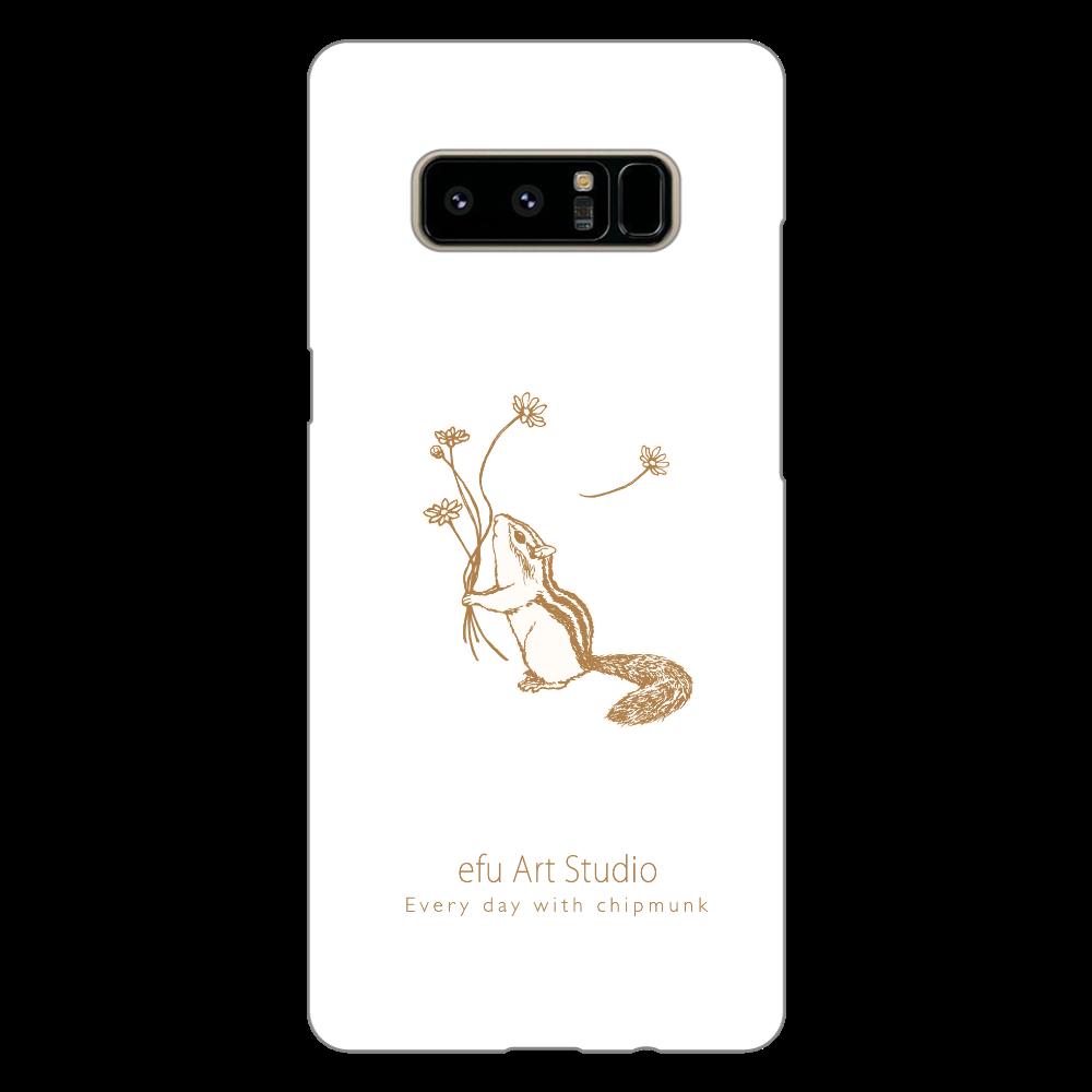 シマリスAndroidケース(白) Galaxy Note8(白)