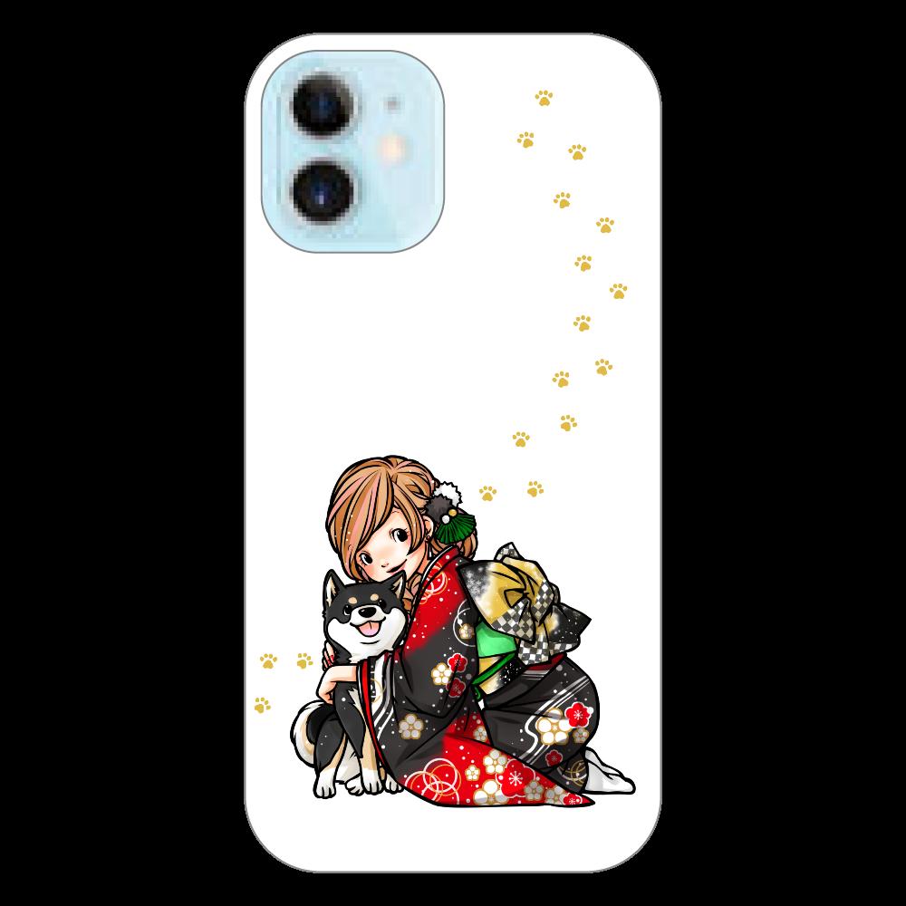 きもの女子と黒柴_A iPhone12 mini