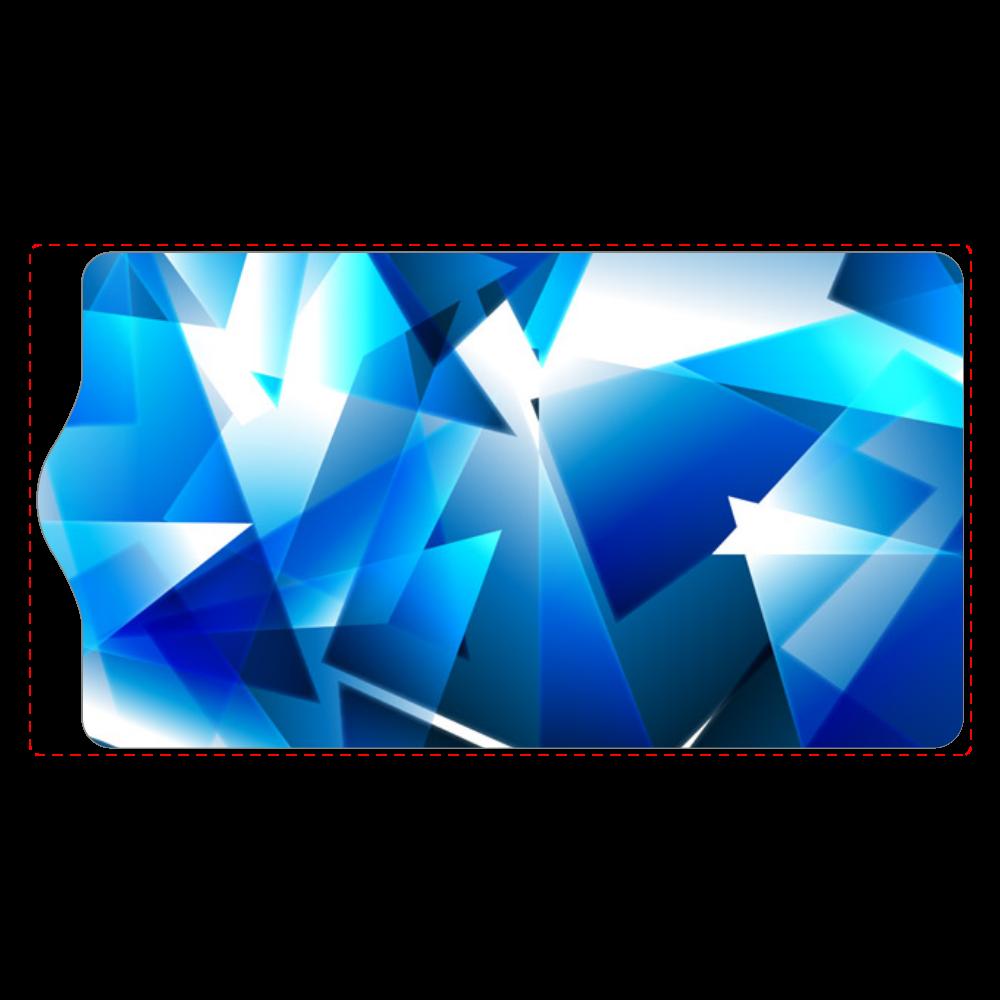 ガラス青デザイン キーケース