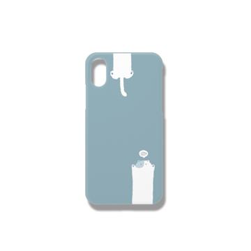 のびるねこ(おさかなブルー) iPhoneケース iPhoneX/Xs