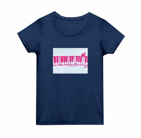 「ピンクネコ」レディースTシャツ トライブレンド ウィメンズ Tシャツ