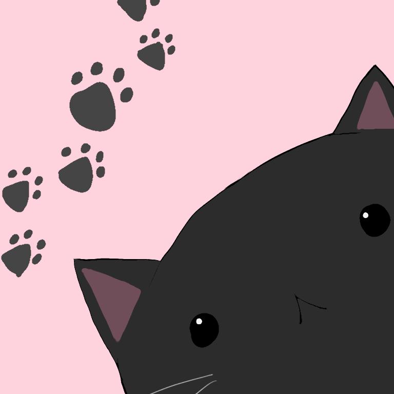 黒猫パスケース オリジナルパスケース