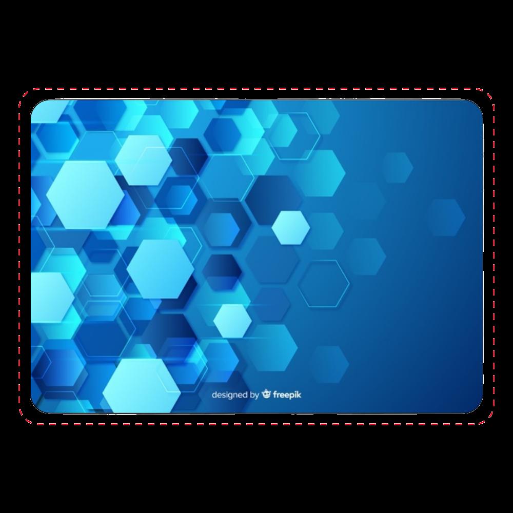 六角形(青)デザイン カード収納ケース