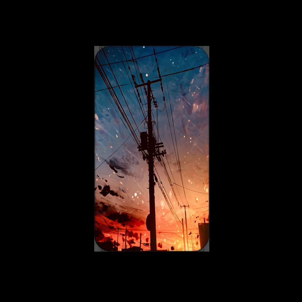夕陽 モバイルバッテリー 残量表示付きモバイルバッテリー(4000mAh)