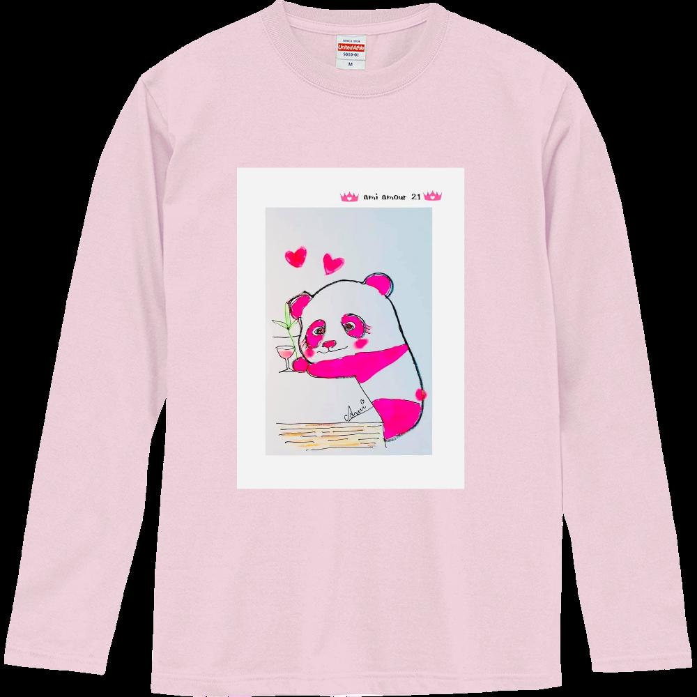 ピンクパンダ  ロングTシャツ ロングスリーブTシャツ