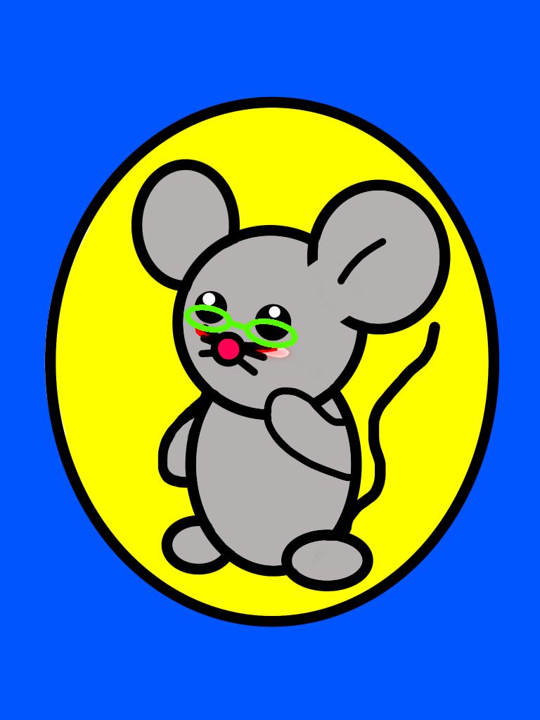 へっぽこメガネネズミのiPhoneケース iPhone12 Pro(透明)