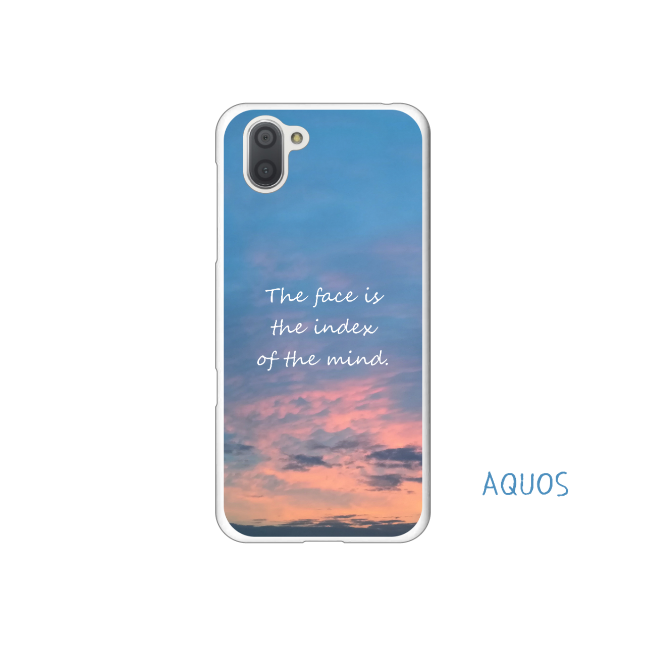 The face is the index of the mind.     (AQUOS) AQUOS R3 SH-04L/SHV44/808SH