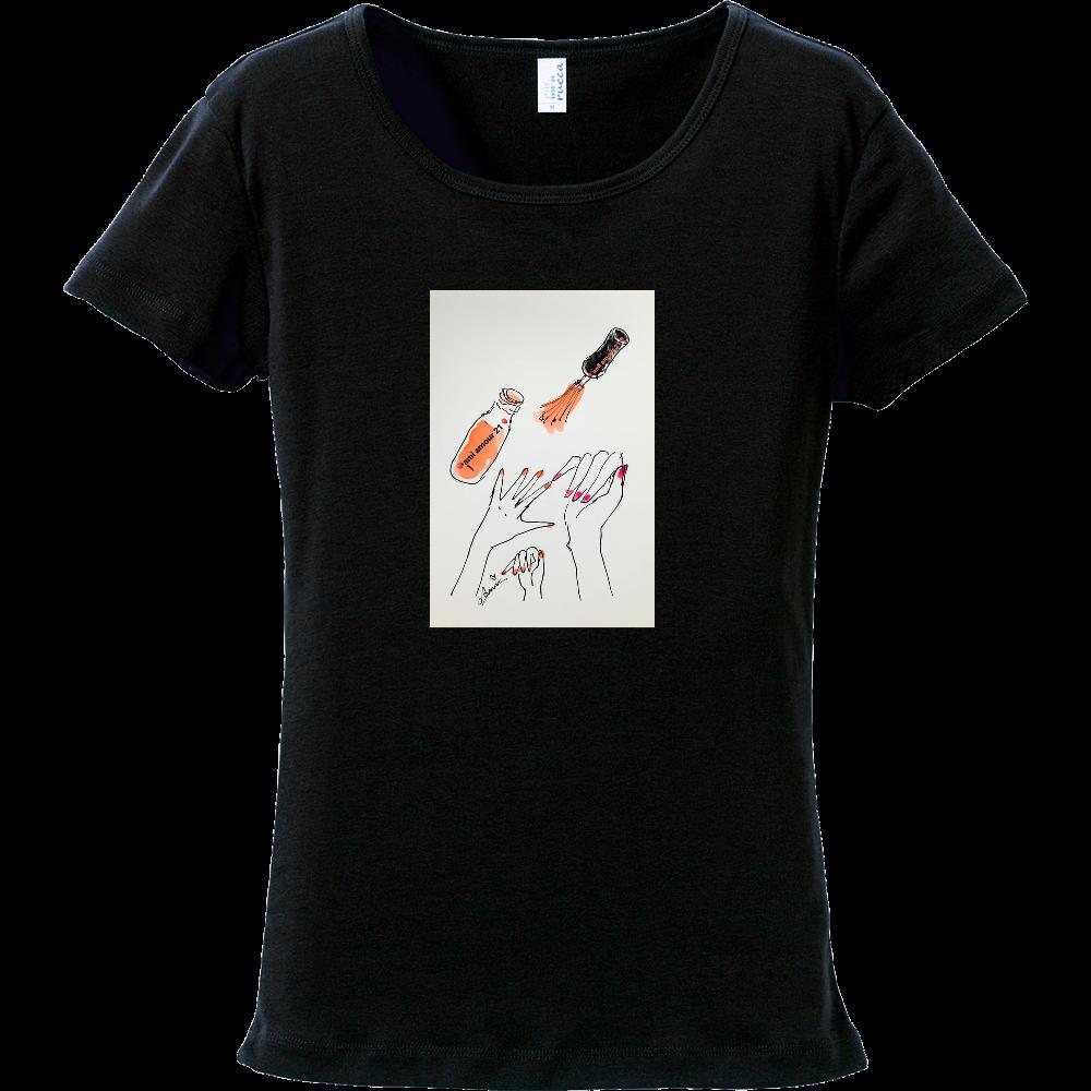 「はじめてのマニキュア」マニキュア描きイラストTシャツ フライスTシャツ