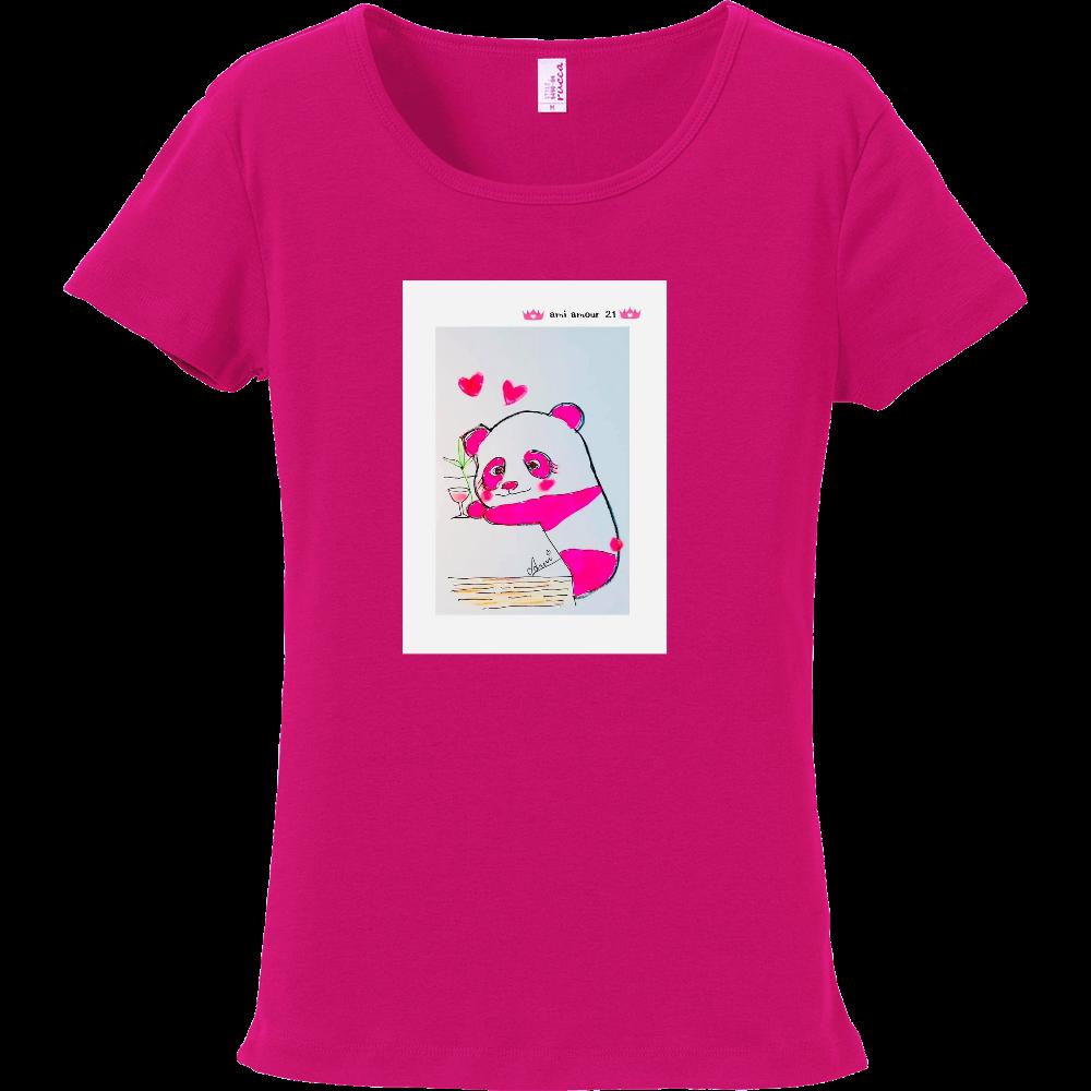 ピンクパンダ「酔っパンダ」Tシャツ フライスTシャツ