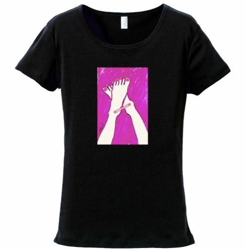 恋するピンク(表面のみプリントバージョン) フライスTシャツ