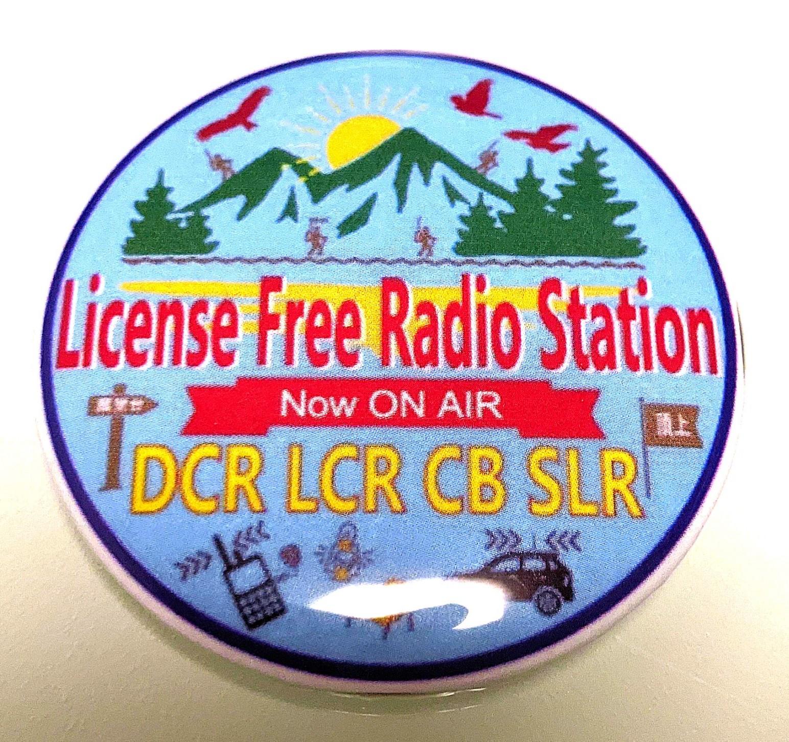 ライセンスフリーラジオ局 オリジナルバッジ オリジナル缶バッジ(56mm)