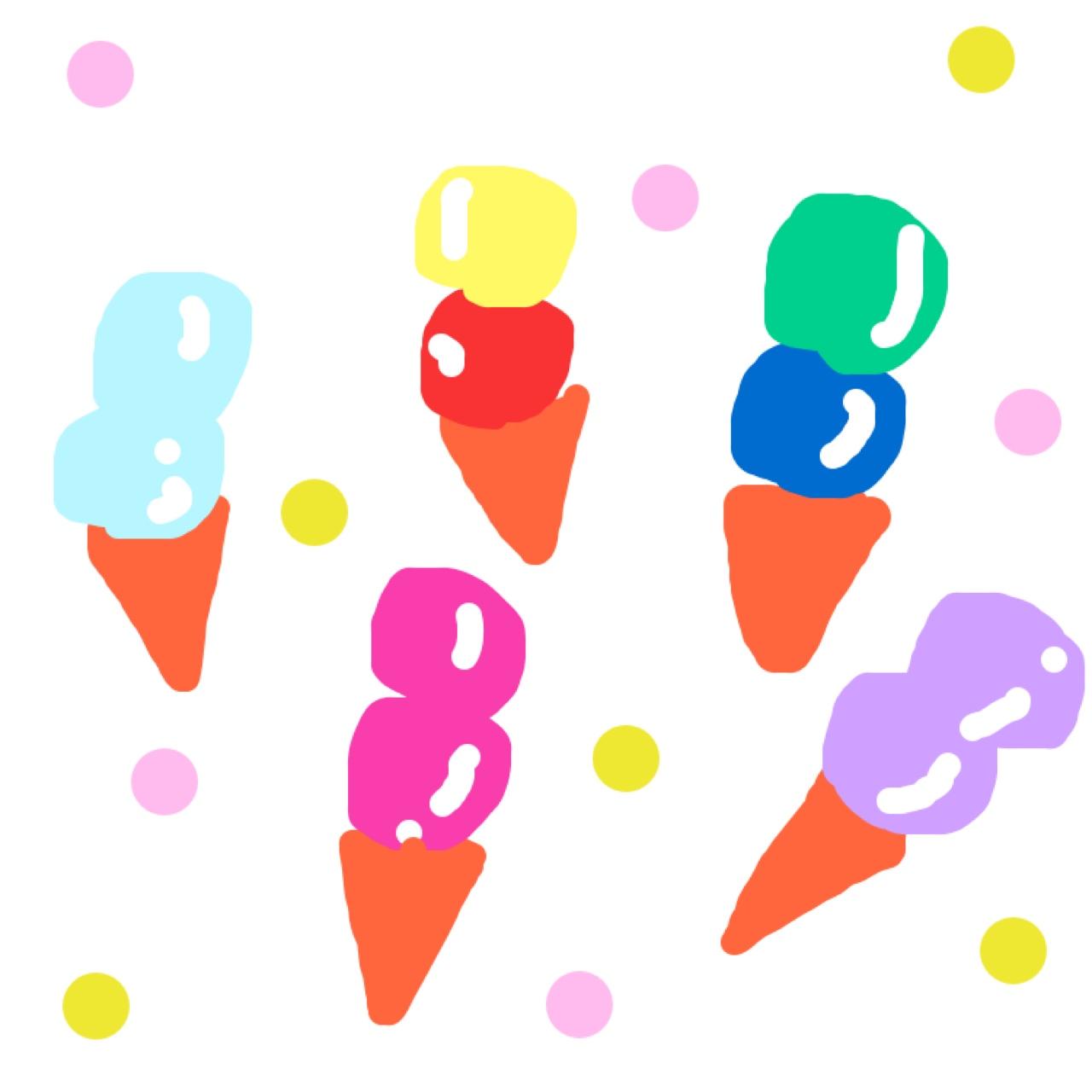 アイスクリーム ソフトレザーノート