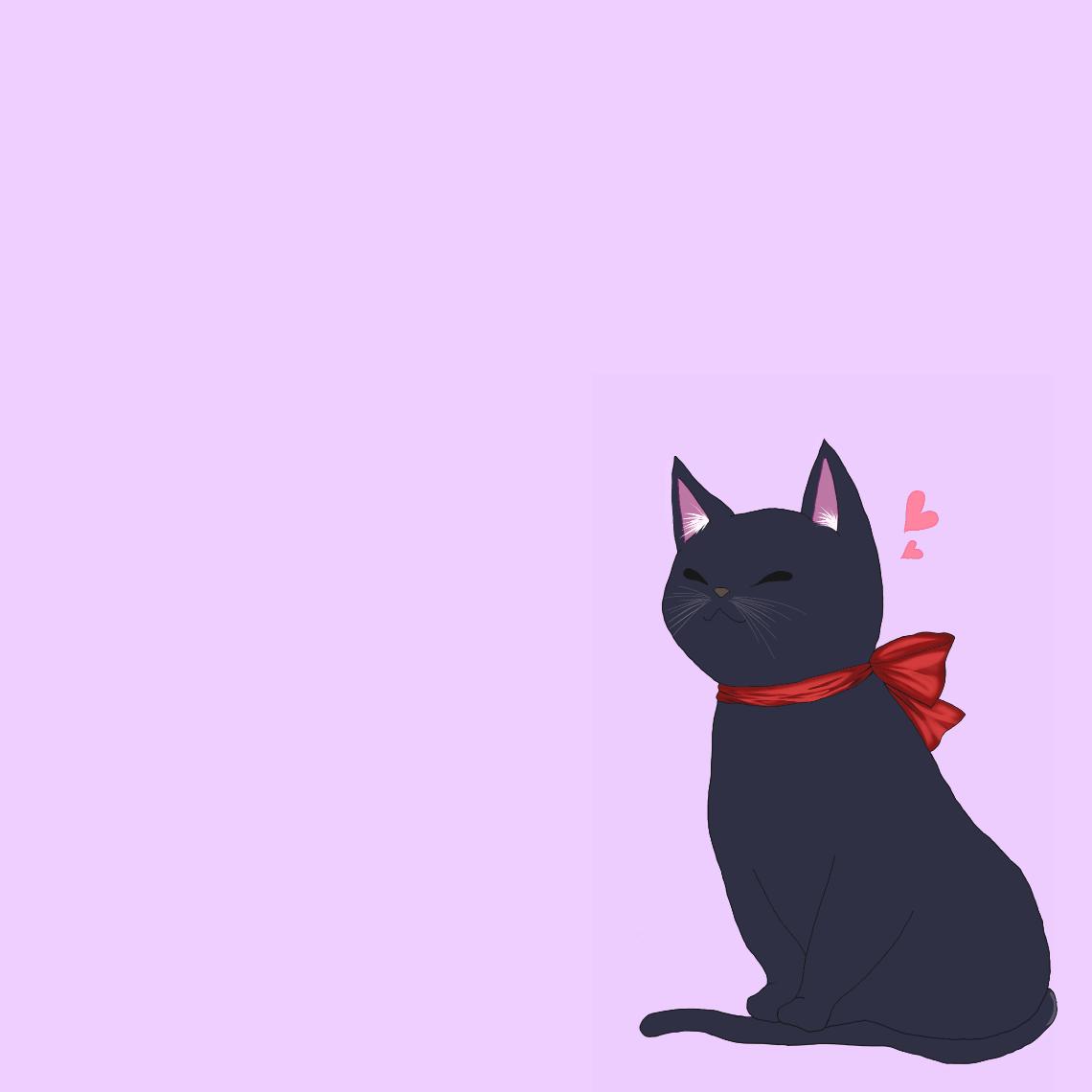黒猫 スマホケース タブレットケース汎用Mサイズ